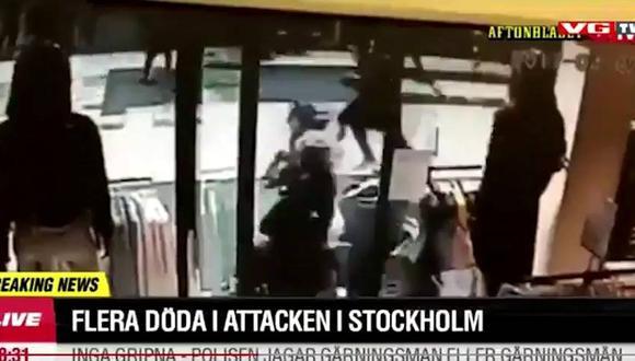 Estocolmo: El preciso momento del ataque terrorista [VIDEOS]
