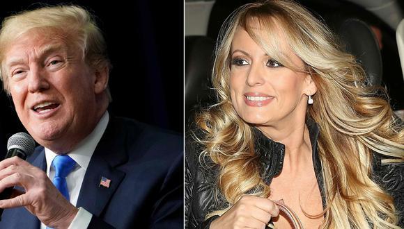 Abogado de Donald Trump, Rudy Giuliani, no descarta que se hayan hecho pagos a otras mujeres. En la imagen, el presidente de Estados Unidos y la actriz porno Stormy Daniels. (AFP).