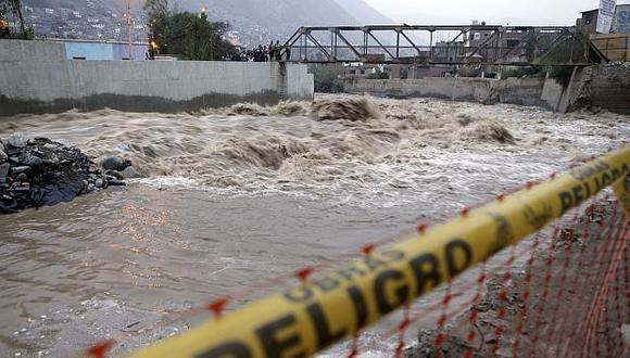 El Senamhi recomienda a la población precaución al realizar actividades cerca del río. (Foto: GEC)