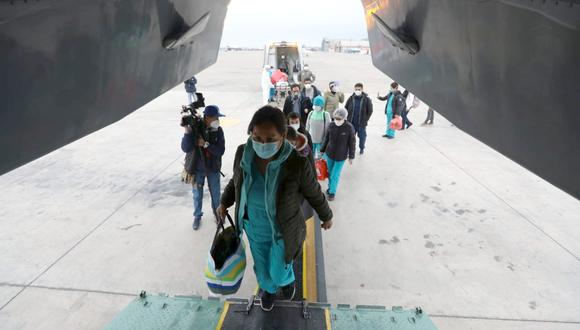 Cusco: brigada de 50 médicos y enfermeras llegan para salvar vidas del COVID-19 (Foto: EsSalud)
