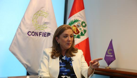 Confiep, cuya presidenta es María Isabel León, emitió pronunciamiento sobre el allanamiento fiscal a su local. (Foto: GEC)