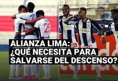 Alianza Lima: los resultados que el cuadro íntimo necesita para salvarse del descenso