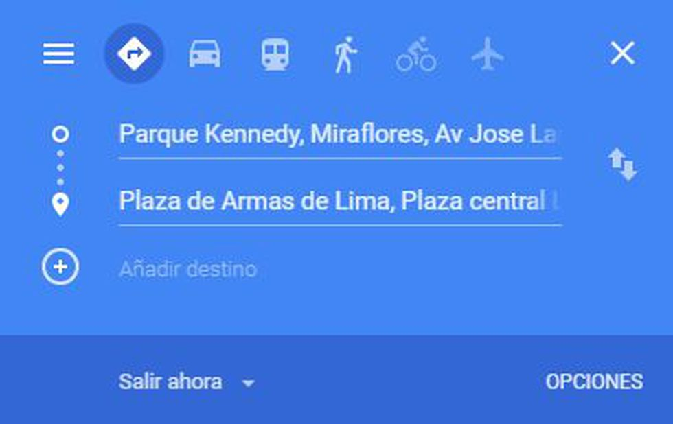 Google Maps nos permite llegar a varios puntos del mundo. (Foto: Google Maps)