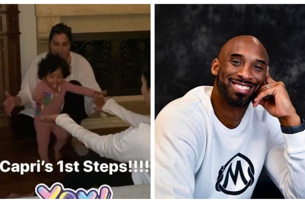 Kobe Bryant mira a su hija caminar desde el cielo.