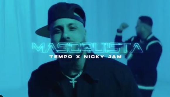 """Nicky Jam y Tempo se unen por primera vez para lanzar el tema """"Masoquista"""". (Foto: Captura de video)"""