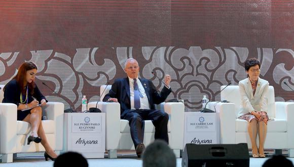 """Kuczynski Godard criticó el proteccionismo aún existente, y aseveró que este puede disiparse """"creando un nuevo dinamismo"""". (Foto: Andina)"""