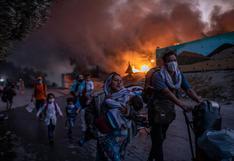 Grecia: Condenan a 10 años de cárcel a 4 afganos por incendiar el mayor campo de refugiados de Europa