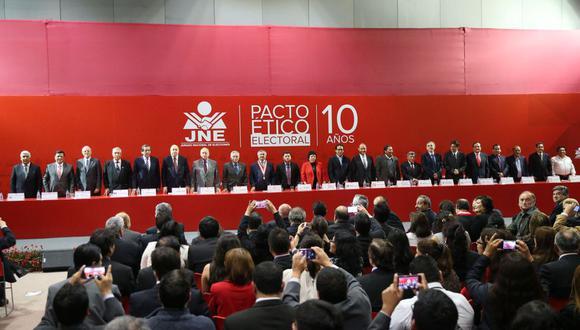 Pacto Ético Electoral consideró que actual elección es un proceso singular para elegir a 130 parlamentarios. (Foto: GEC)