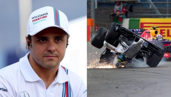 ¿Qué dijo Felipe Massa tras su aparatoso accidente?