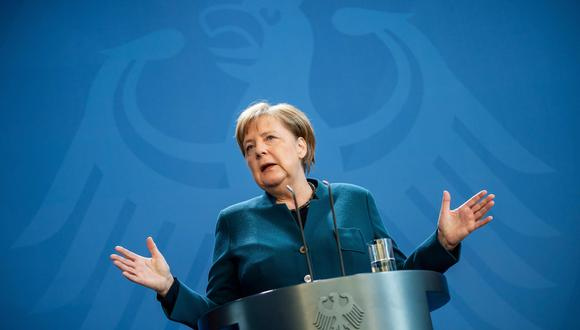La canciller alemana Angela Merkel dio negativo a la primera prueba de coronavirus. (AFP / POOL / Michael Kappeler).
