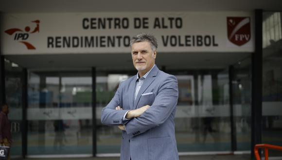 LIMA 04 DE SETIEMBRE DEL 2018  RETRATO A PACO HERVAS, NUEVO TECNICO DE LA SELECCION PERUANA DE VOLEY.