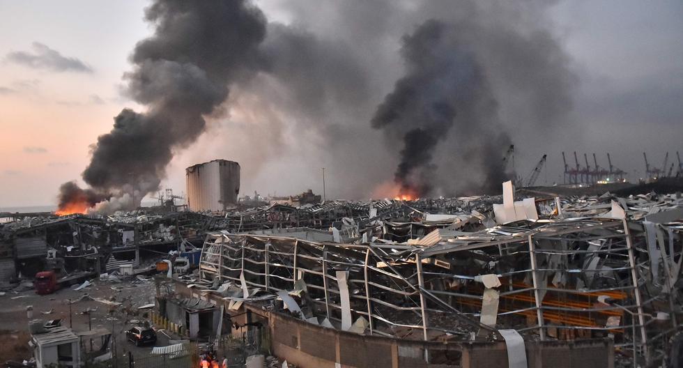 Más de 300.000 personas se han quedado sin casa en Beirut por la explosión. La tragedia se debió a la deflagración de cerca de 3.000 toneladas de nitrato de amonio en la capital del Líbano. (Foto: AFP / STR)