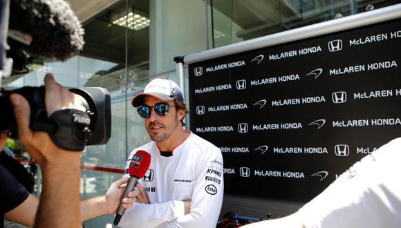 Alonso intenta ganar el GP de Brasil por tercera vez en su carrera. Foto: Reuters.