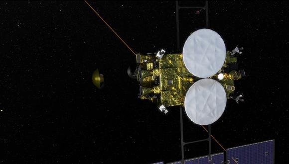Ilustración de la sonda hayabusa2. (Handout / JAXA via Jiji Press / AFP)