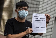 Hong Kong: Joshua Wong, conocido activista de manifestaciones prodemocracia, fue detenido