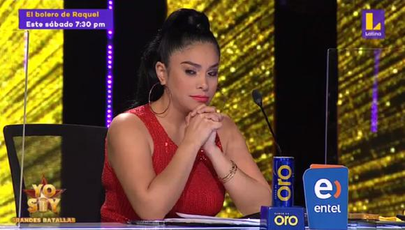 """Maricarmen Marín llora en """"Yo Soy"""" tras emotiva interpretación del imitador de Sandro. (Foto: Captura Latina)"""