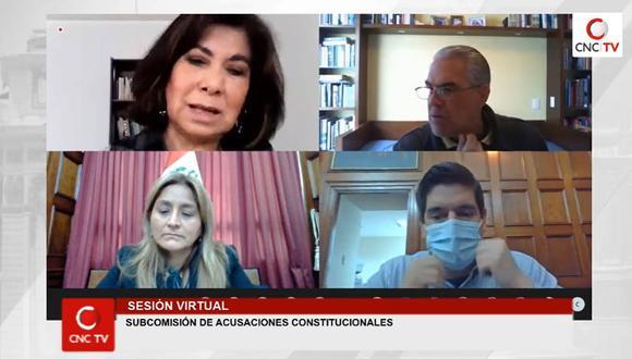 Subcomisión de Acusaciones Constitucionales sesionó esta mañana para revisar cuatro denuncias. (Foto: Congreso TV)