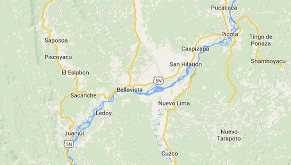 San Martín: reportan caída de avioneta particular