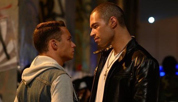 """Finn Cole and Vinnie Bennett in a scene from """"Fast and furious 9""""."""