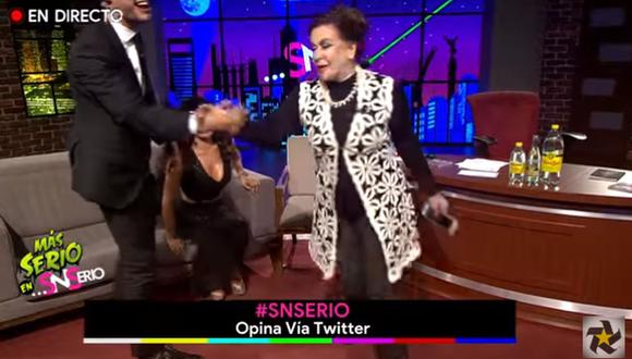 La famosa actriz mexicana no dudó en irse del estudio cuando le mencionaron a Thalía. (Foto: Captura de YouTube)