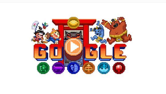Doodle lanzó un videojuego con estética RPG de 16 bits. (Foto: Google)