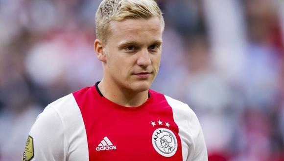 Donny van de Beek, uno de los futbolistas que interesa al Real Madrid. (Foto: AFP)