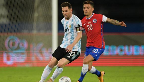 Lionel Messi en acción durante el partido Argentina vs Chile por la Copa América 2021 | Foto: AFP
