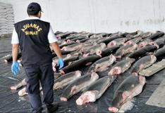 Tumbes: incautan once toneladas de carne de tiburón que iban a comercializarse en el país