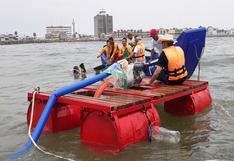 Con innovador prototipo recolectan microplásticos en las playas del Callao