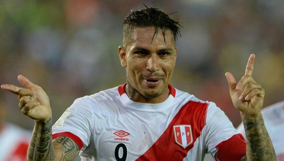 Paolo Guerrero, delantero de la selección peruana. (AFP)