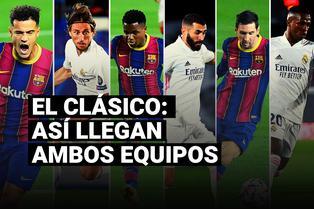 Barcelona vs. Real Madrid: así llegan ambas escuadras al clásico español por la Liga Santander