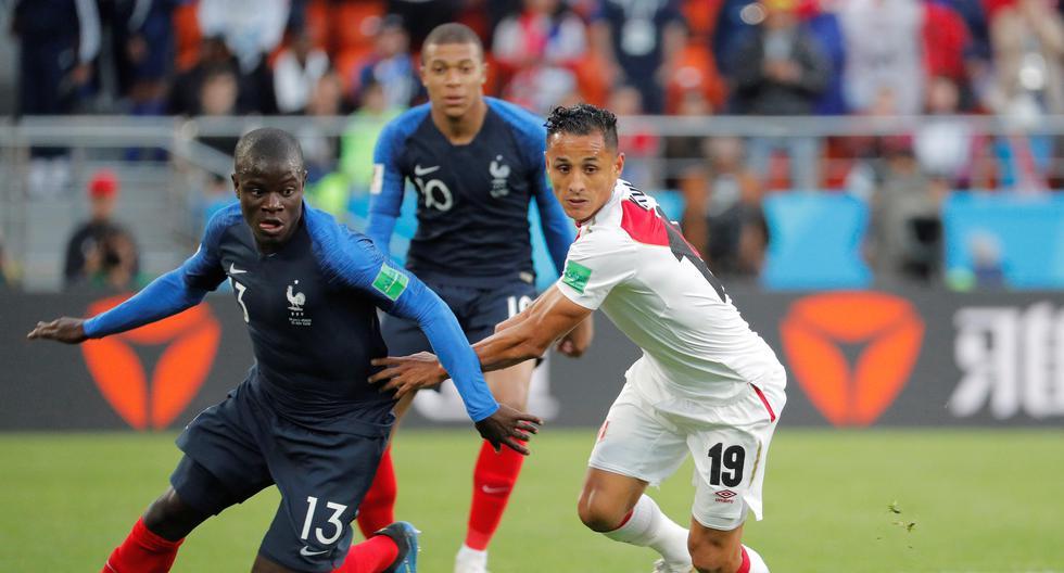 Kanté en la disputa con Yotún. Francia ganó ese partido por 1-0. (Foto: EFE)