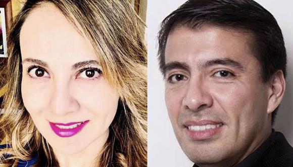Juan Carlos García y Abril Pérez. (Foto: Twitter)