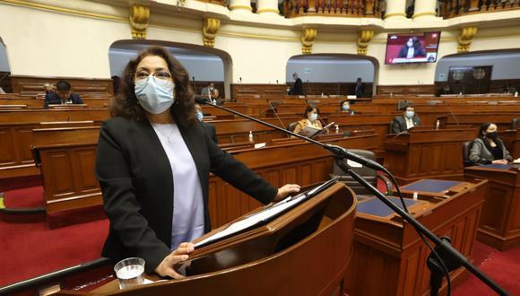 Jefa del Gabinete, Violeta Bermúdez, pide el voto de confianza del Congreso (Foto: PCM)