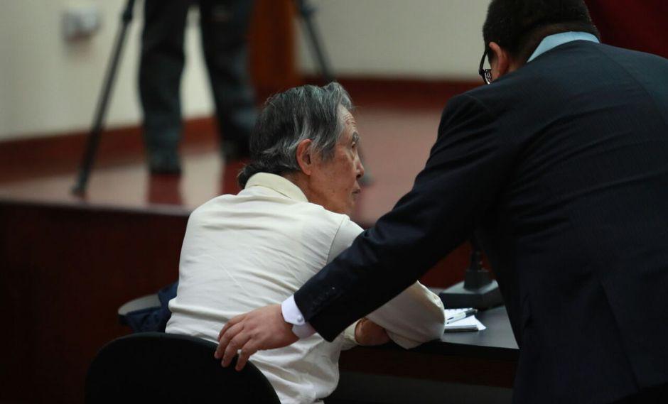 El ex presidente Alberto Fujimori volvió a sentarse en el banquillo del procesado en una audiencia judicial, esta vez por ser el presunto autor mediato del crimen de homicidio en el Caso Pativilca. (Lino Chipana / El Comercio)