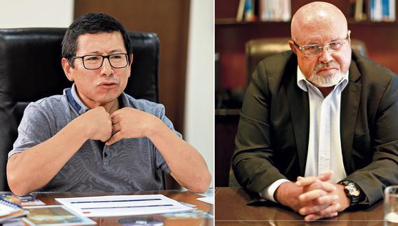 Trujillo es cuestionado por el incendio de un bus en Fiori, mientras que Bruce afronta pesquisa fiscal. (Composición: El Comercio)