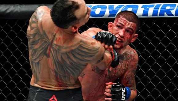 McGregor vs. Khabib EN VIVO: Férguson y Pettis pelearon en el combate más sangriento del UFC 229   VIDEO. (Foto: AFP)