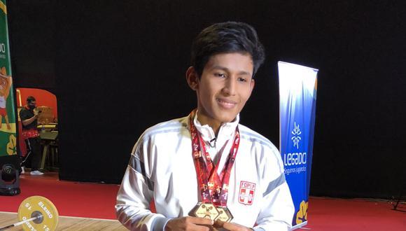 Nol Ríos consiguió tres medallas en la Copa Mundial Sub 17 Online 2020. (Foto: @jorgezna / @Sonqodeportes)