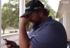 La emotiva llamada del golfista Michael Visacki a su papá tras clasificar al circuito más importante de EEUU