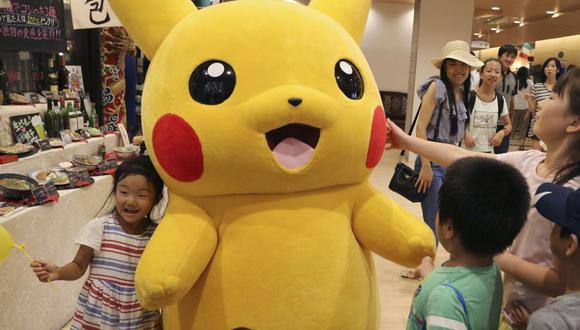 """Pikachu del anime y saga de videojuegos  """"Pokémon"""". Eventos como este han sido prohibidos en Japón a causa del coronavirus. (Foto: AP)"""