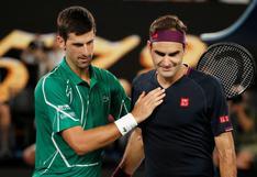 """Novak Djokovic se confiesa: """"Se puede decir que Federer es el mejor de todos los tiempos"""""""