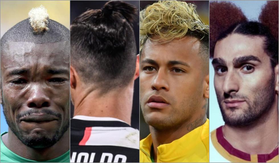 El top 15 de los peinadores más raros de futbolistas con Cristiano Ronaldo y Neymar a la cabeza [FOTOS]