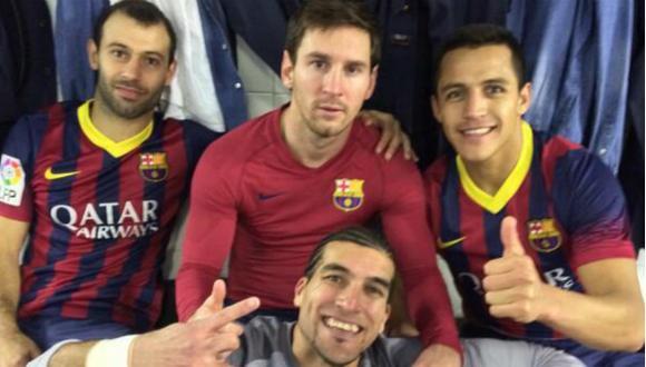 Así celebraron los jugadores del Barcelona en Twitter