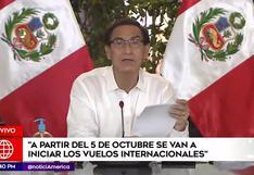 Vuelos internacionales se reanudarán desde el 5 de octubre, anunció el presidente Vizcarra [VIDEO]