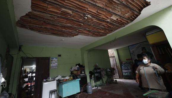 El epicentro de este sismo se ubicó a 11 kilómetros al oeste de la localidad de Sullana, en la provincia de Sullana, y a una profundidad de 35 kilómetros. Varias viviendas se vieron afectadas. (Foto: El Comercio)