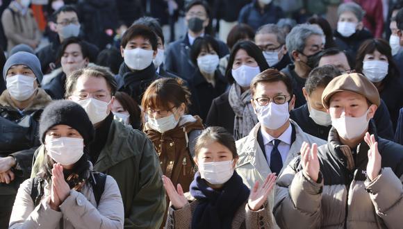 Personas aglomeradas en Kanda Shrine de Tokio, Japón. (Foto: AP)