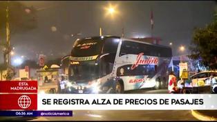 Terminal de Yerbateros: usuarios reportan alza de precio de pasajes