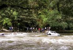 Cajamarca: consejero regional fallece tras despiste y volcadura de camioneta al río Tabaconas