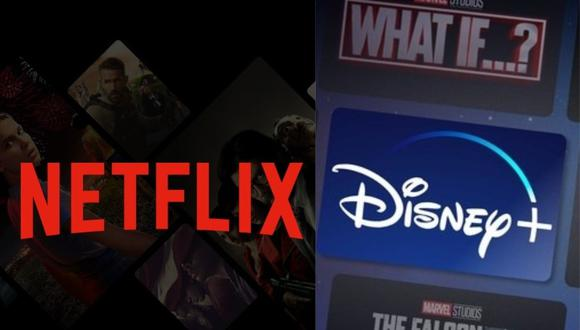 Netflix se pronuncia en redes sociales tras la llegada de Disney+ a Latinoamérica. (Foto: @@NetflixLAT/@@disneyplusla)