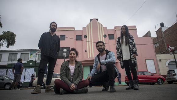 El equipo del Centro Cultural Cine Olaya, en sus mejores tiempos, a fines de 2019 (Foto: Elías Alfageme)